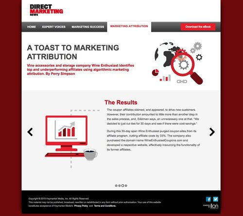 Direct Marketing News Interactive Content Case Study