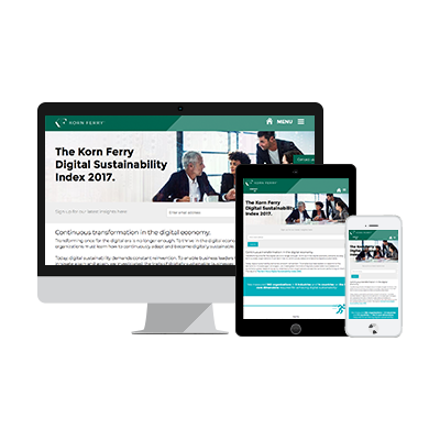 ion interactive content example Korn Ferry Infographic