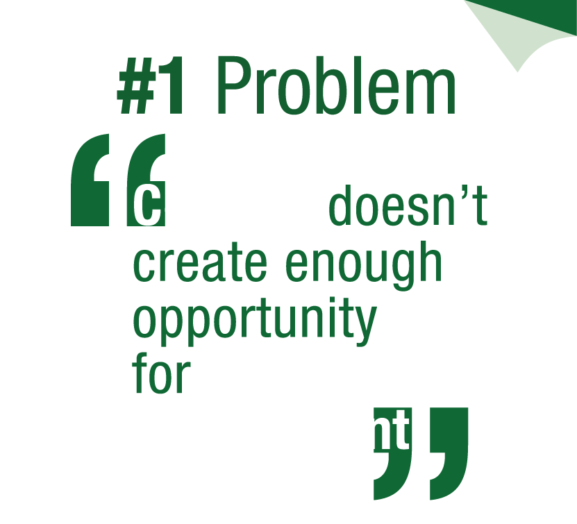 #1 Problem: Content doesn't create enough opportunity for interaction and engagement